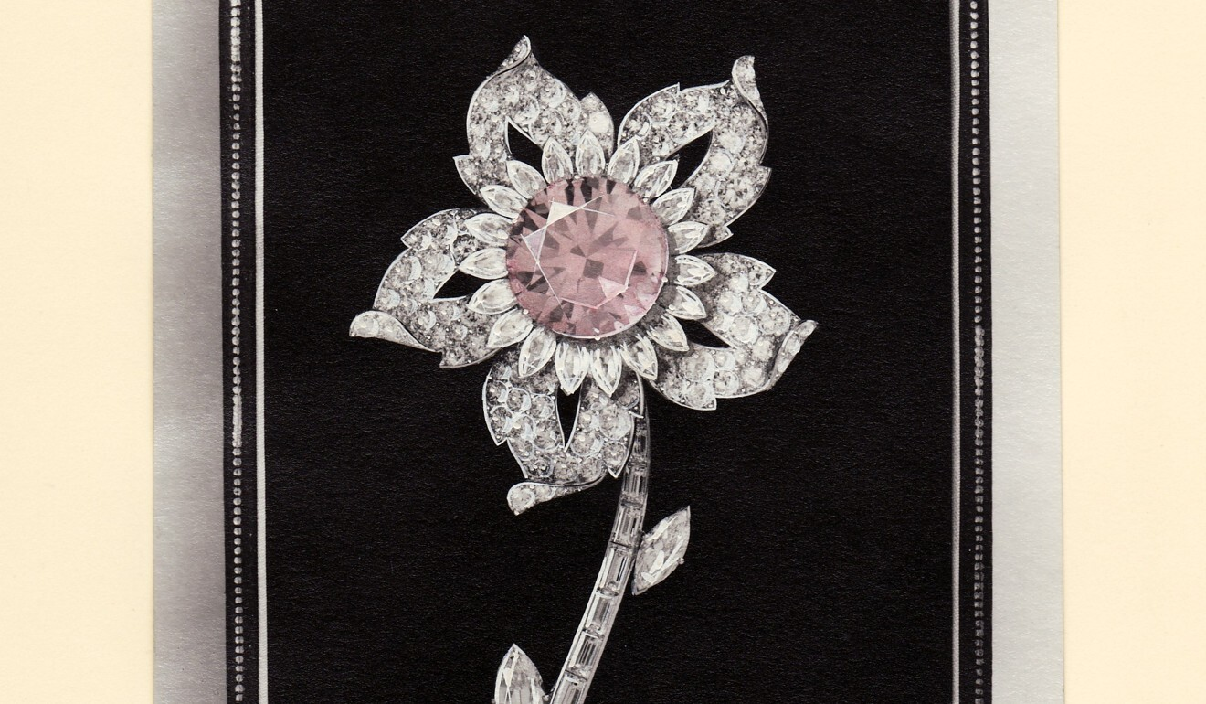The Williamson pink diamond, pictured here set inside a brooch, was presented to Queen Elizabeth by Chopra's grandfather. Photo: Handout