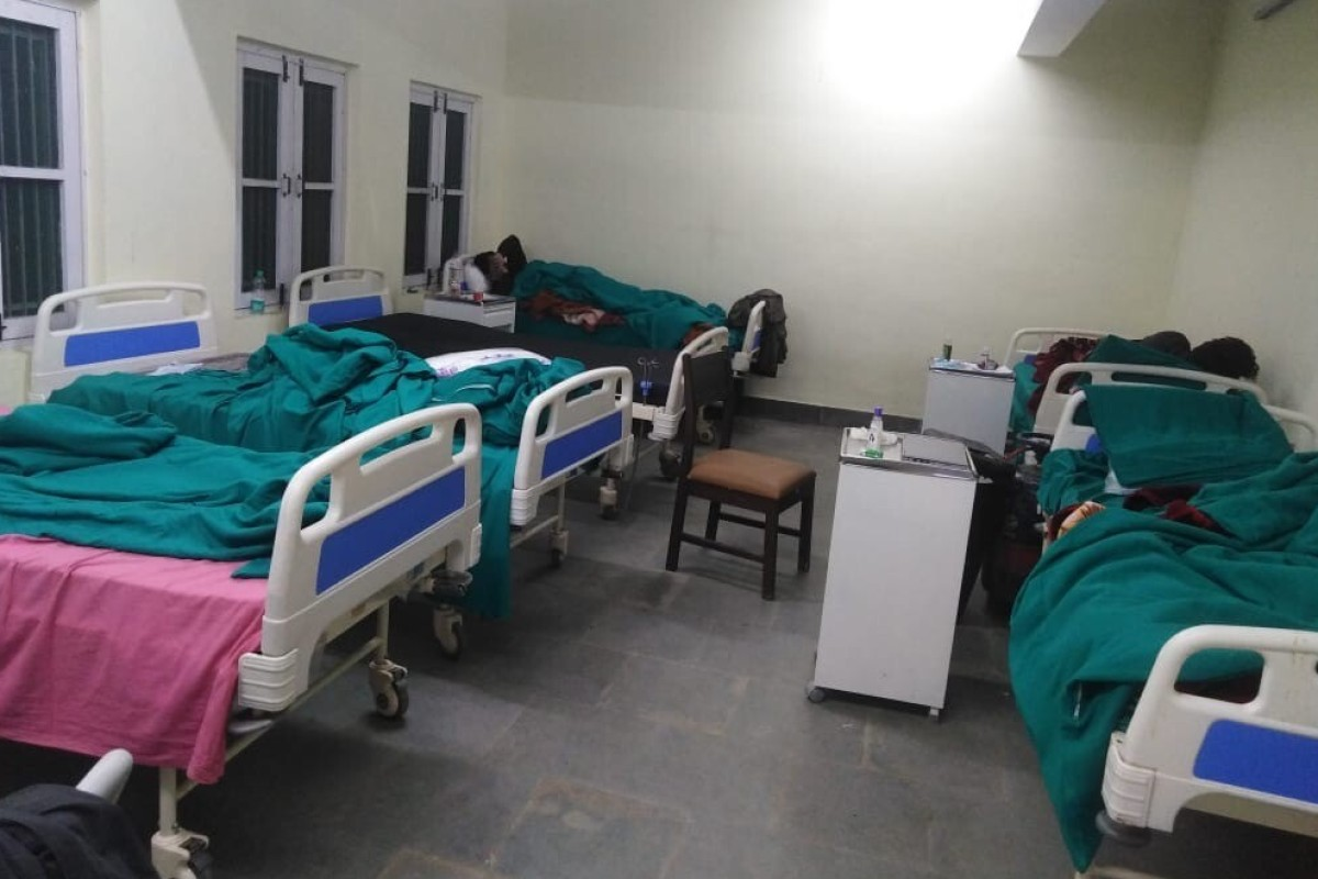 An Indian government quarantine centre in Baramulla in north Kashmir. Photo: Handout