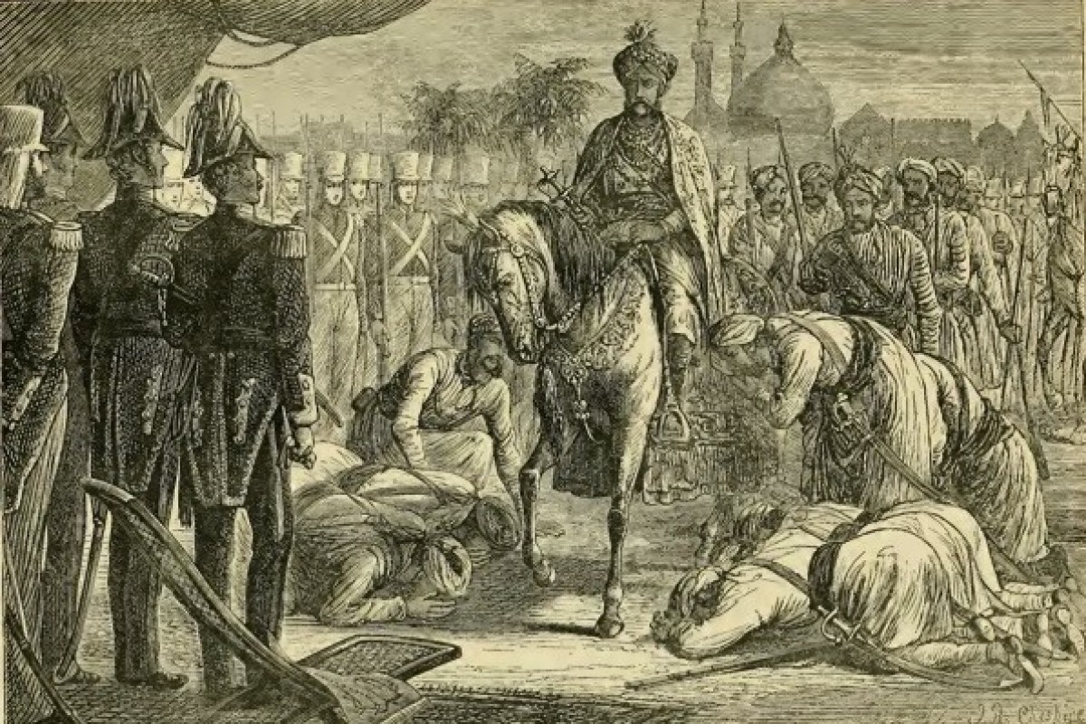 The surrender of Diwan Mulraj Chopra, leader of the Sikh rebellion against the British, at the Siege of Multan on January 22, 1849. Photo: Handout