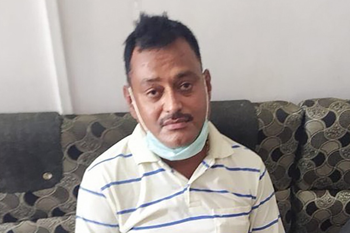 Vikas Dubey was allegedly involved in 60 cases of killings, robberies and kidnappings. Among them was the killing of local Bharatiya Janata Party leader Santosh Shukla in a police station in 2001. Photo: Twitter