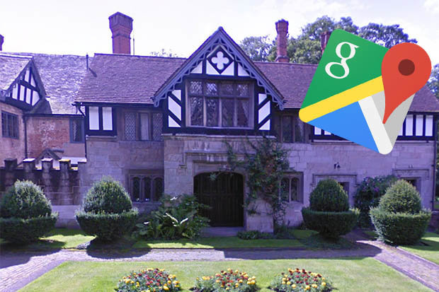 Google Maps street view  Haunted house spotted and it holds VERY     Baddesley Clinton on Google Maps