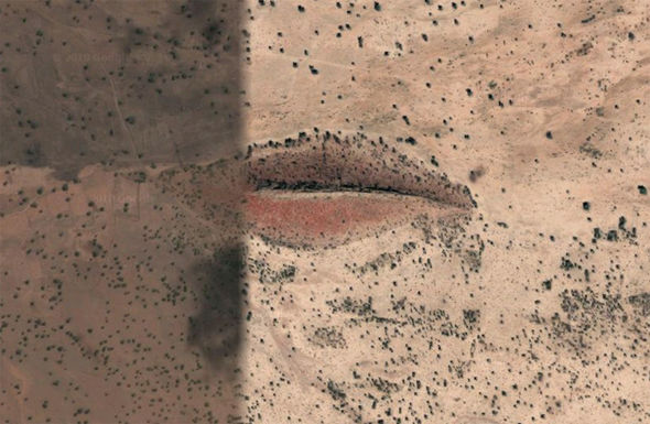 Google Maps unearths large lips in Sudan desert   Travel News     Google Maps Earth lips