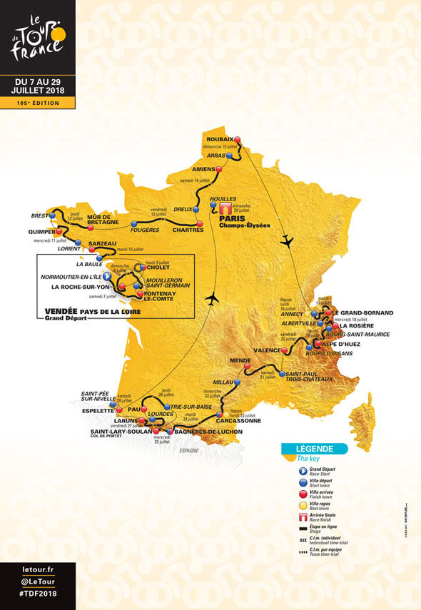 Tour de France 2018 route revealed  When is it  Who s going to win     Tour de France route