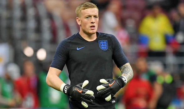 Jordan Pickford  England star spotted in BIZARRE training drill     Jordan Pickford
