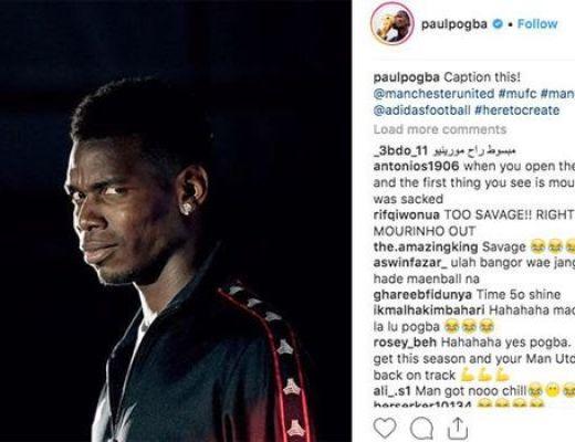 Afbeeldingsresultaat voor pogba instagram mourinho
