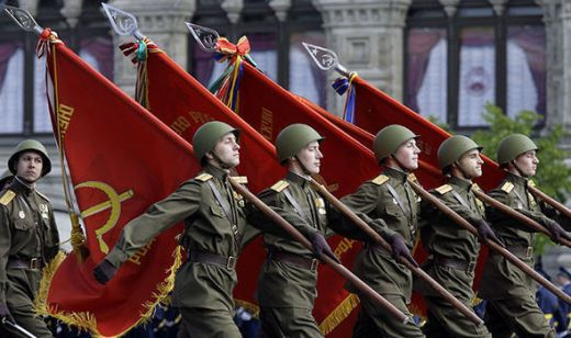 Russia army marching
