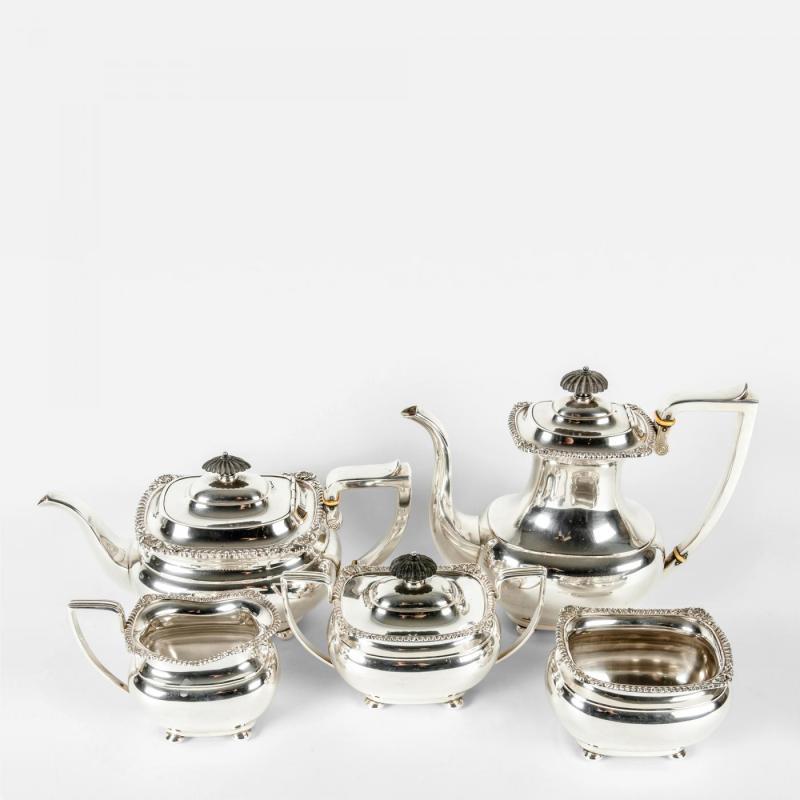 Large Of Silver Tea Set