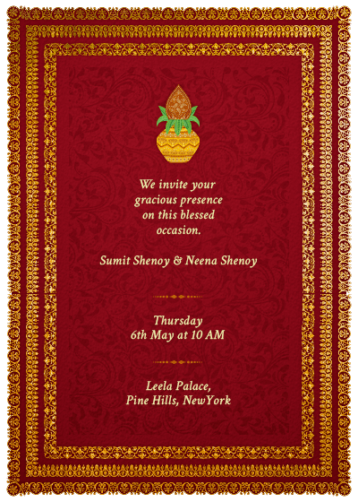 Griha Pravesh Invitation Cards Designs Invitationsweddorg