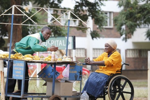 Assistive products like wheelchairs can help people with disabilities participate more fully. Credit: Jeffrey Moyo/IPS.