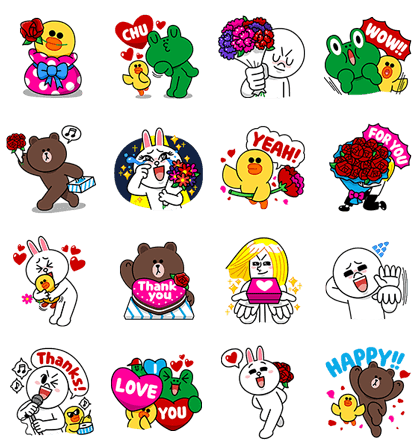 line stickers 2291