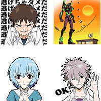20141024-LINE sticker-EVANGELION, Hoppin' Mad! Angry LINE Characters-sp