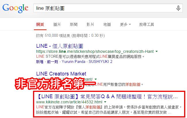 Google 搜尋排行榜第一名(非官方)-2-1