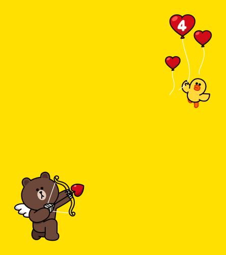 LINE4周年贈送活動_熊大&莎莉