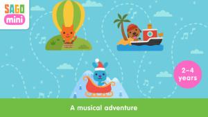 iOS限免、限時免費app遊戲軟體-Sago Mini Music Box 1