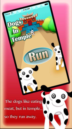 iOS限免、限時免費軟體遊戲app-Make Three Dogs From Temple Jump 1