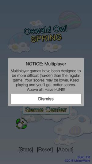 iOS限免、限時免費APP遊戲軟體-Oswald Owl SPRING Multiplayer 2