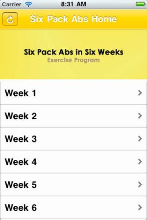 iOS限免、限時免費APP遊戲軟體-Six Pack Abs in Six Weeks 2