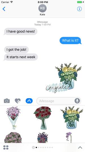 Flower Bouquet Stickers-2
