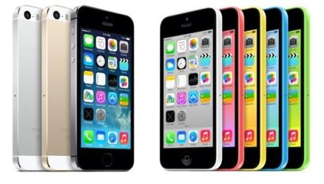 novos iohones iphone 5s 5c