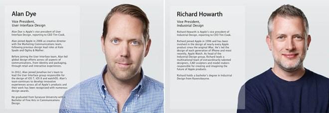 Dye Howarth Apple PR Bios