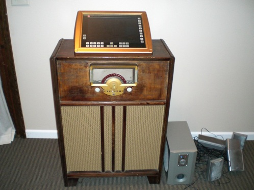 Homemade touch-screen jukebox
