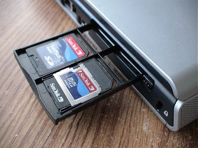 Now The Cards Slide Into The Pcmcia Slot With The Carrier