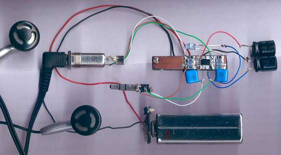 RC4560 based headphone amp