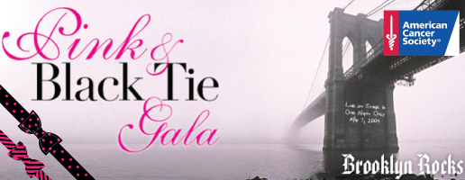 pink and black tie gala