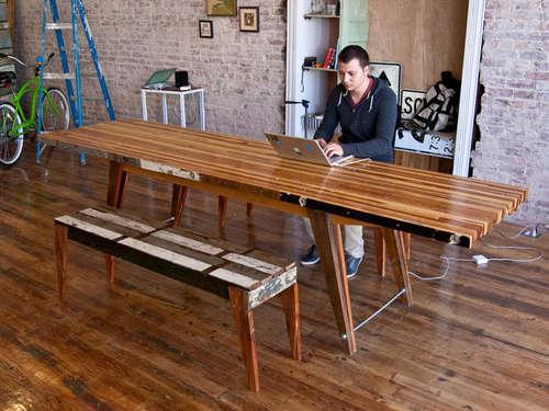 beautiful scrap wood butcher block table make