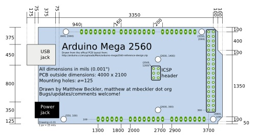 Arduino Mega Drawing 500X272