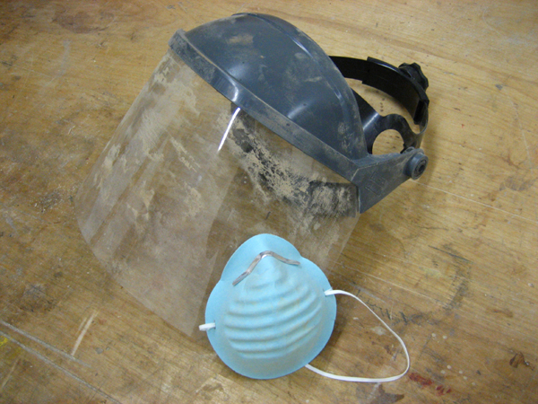 Face shield and dust mask
