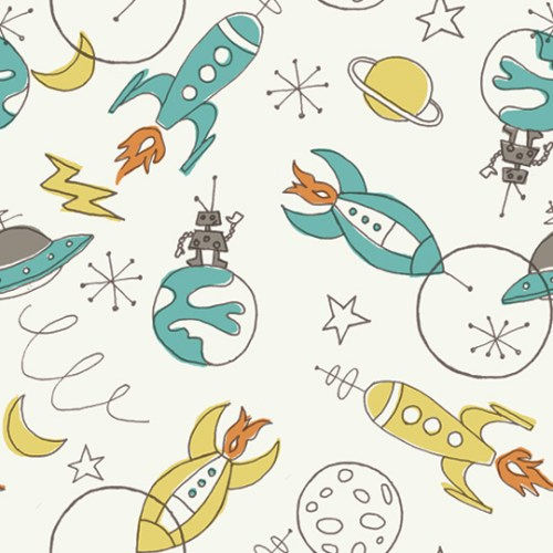 Rocket inspired fabrics from birch make for Rocket fabric