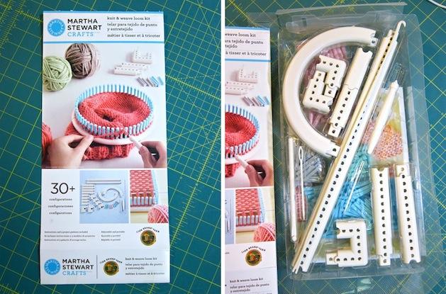 Loom Knitting Kit : Tool review martha stewart crafts and lion brand yarn