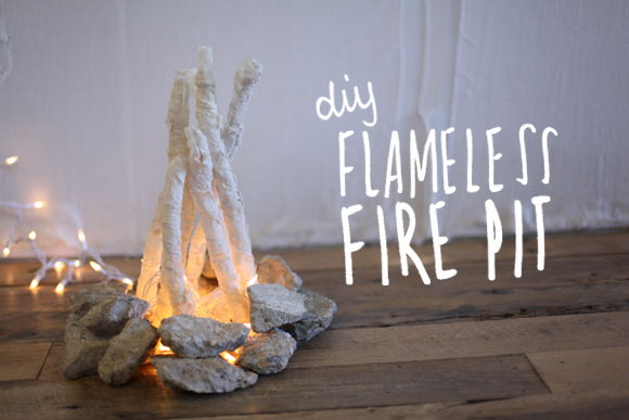 DIY faux fireplace-1