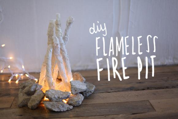 DIY faux fireplace-1