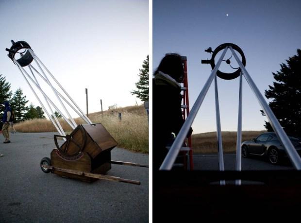 Douglas Smith's FirstLight, a truss-tube style Dobsonian telescope.