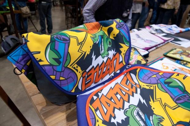 Zazzle art on Rickshaw bags.