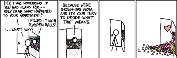 The xkcd comic that inspired the DIY ball pit.