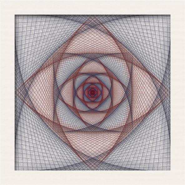 Straight Line String Art : Beginning of a string make