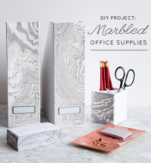 Marbled office supplies-1