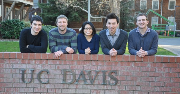 From the left: Nick Raymond, Tom Rumble, Teresa Yeh, Kevin Quach, Alex Beckerman
