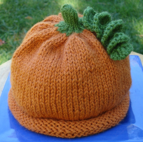 pumpkin knitting hat pattern