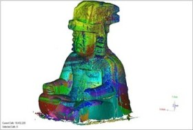 3D scan of a monumental stone sculpture from La Venta, Tabasco, Mexico (Image courtesy of AIST at the University of South Florida)