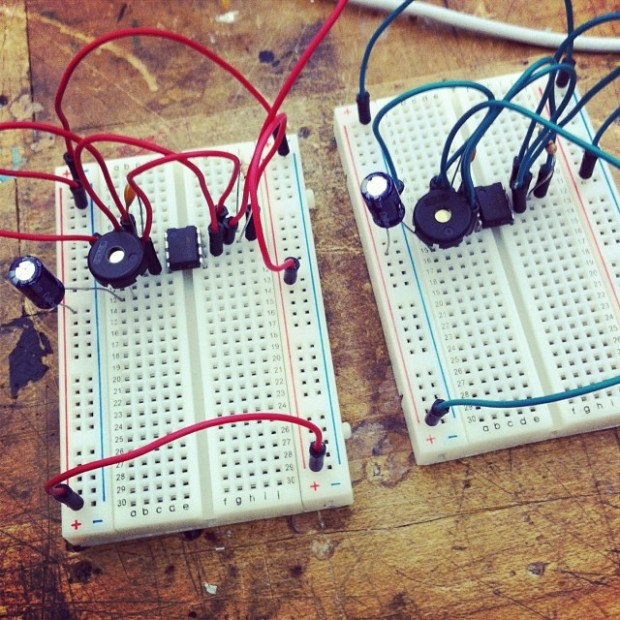 New Mexico-based filmmaker Veronica Black built these breadboard Drawdios.