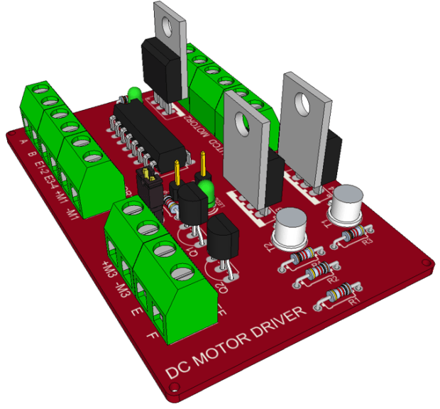 Making A Dc Motor Driver With A L293d Make