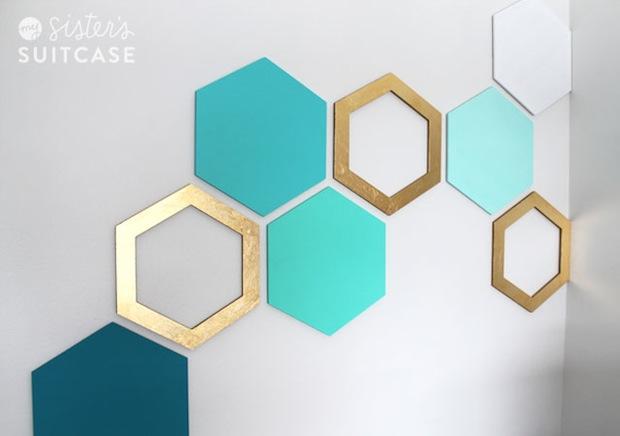 Wall Decor Hexagon : How to hexagon wall art make