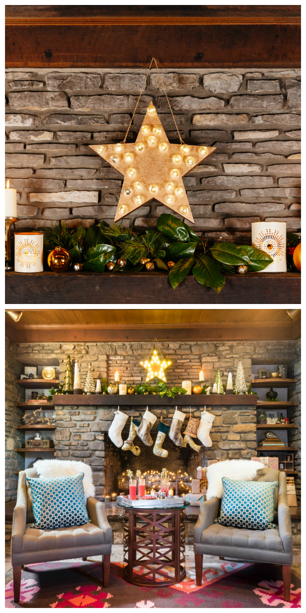 retro light up holiday star