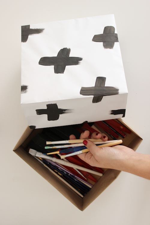 abstract art storage boxes-2
