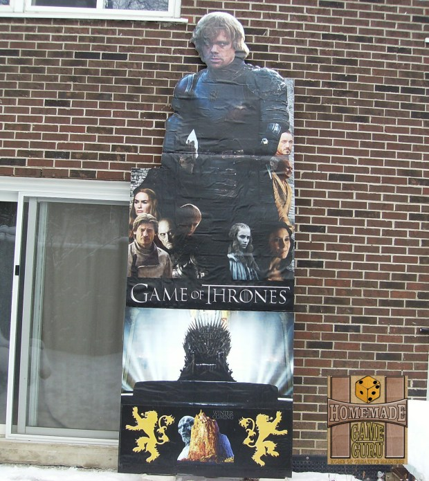 A Homemade Game Guru 'Game of Thrones' 12-foot tall standee