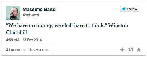 Massimo Banzi Tweets